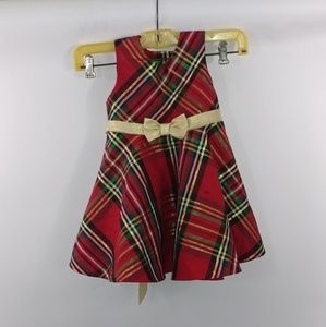 Rare Edition Toddler Girls Holiday Dress Size 24 M